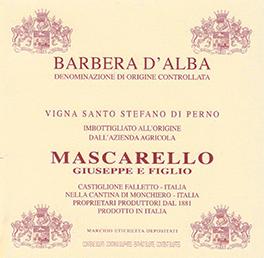 Barbera d'Alba Doc Vigna Santo Stefano di Perno - Mascarello