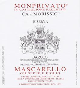 Barolo Docg Monprivato Riserva Ca' d'Morissio - Mascarello